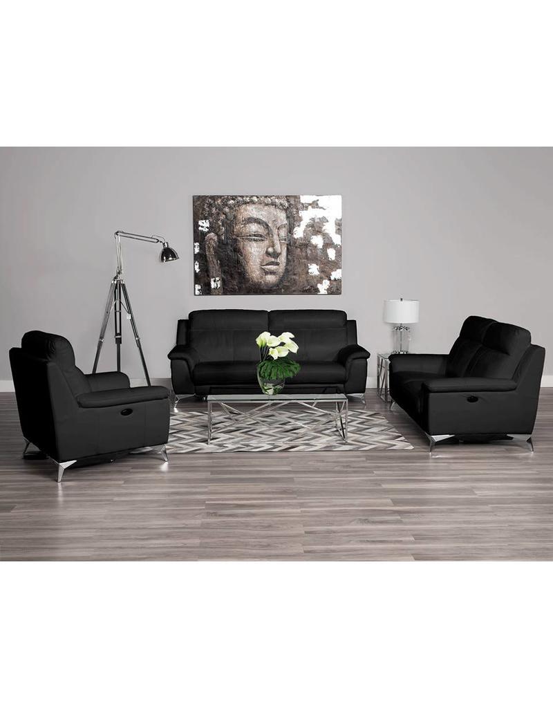 Carson Power Reclining Sofa Black