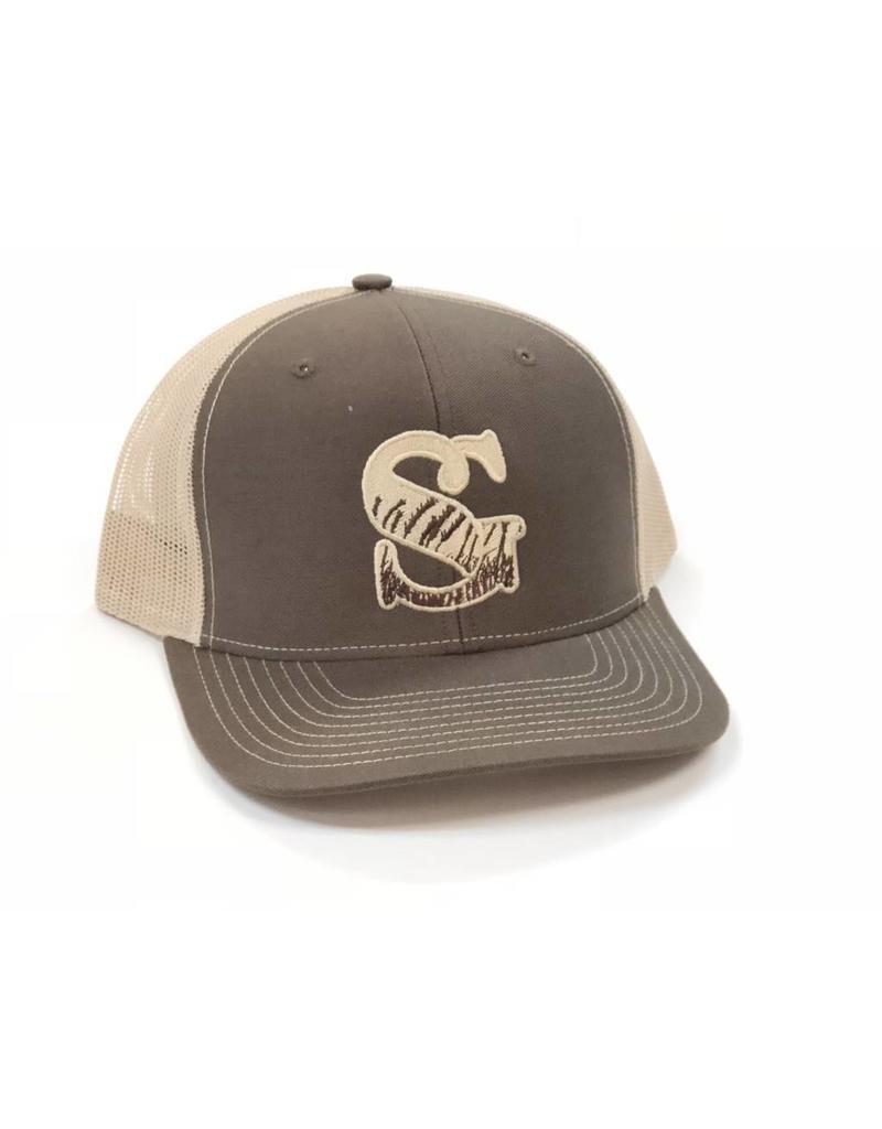 1e68ec1bdaf Southern Grain Collection WHEAT GRAIN MESH BACK TRUCKER HAT BROWN KHAKI ...