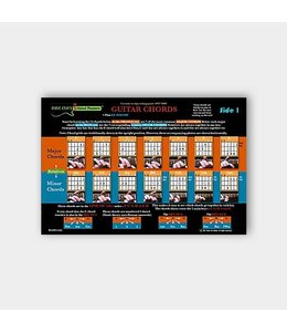Willis Music Company 3 Sided Guitar Poster: Learn Chords and How They Go Together