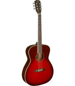J.N. Guitars Guitars Transparent redburst acoustic auditorium guitar