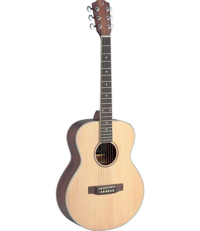 J.N. Guitars Asyla series mini auditorium acoustic travel guitar