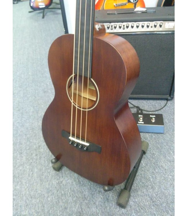 IBANEZ AVNB1E-BV Artwood Vintage Series Solid Sitka Spruce/Mahogany Parlor Bass with Electronics 201