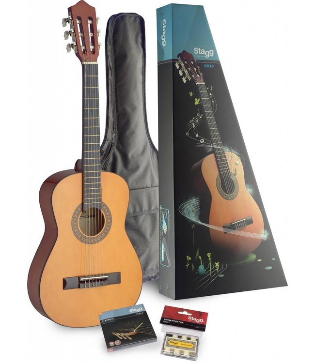STAGG 1/2 Size Classical Guitar Player Pack w/Bag
