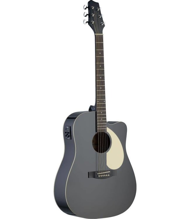 STAGG Electro-acoustic Dreadnought guitar w/ Linden top & CL-4 B-Band EQ