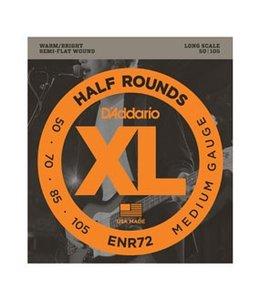 D'ADDARIO ENR72 Half Rounds Bass, Medium, 50-105, Long Scale