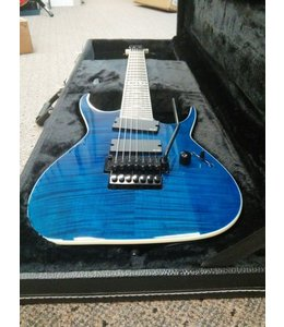DEAN RUSTY COOLEY SEVEN STRING FLAME TOP TBL WITH CASE TRANS BLUE