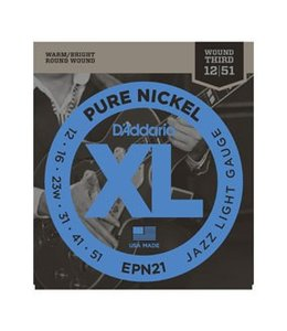 D'ADDARIO EPN21 Pure Nickel, Jazz Light, 12-51