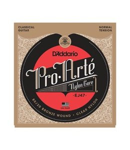 D'ADDARIO EJEJ47 80/20 Bronze Pro-Arté Nylon, Normal Tension