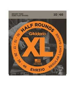 D'ADDARIO EHR310 Half Rounds, Regular Light, 10-46