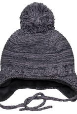 Knit Pom Hat with Ties