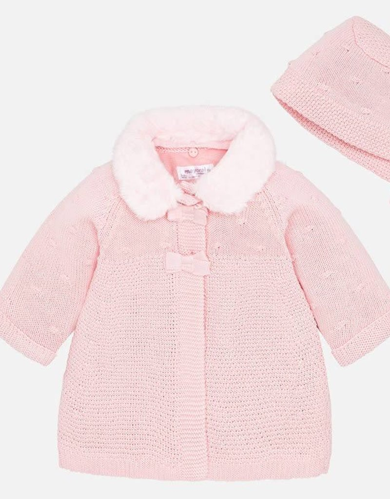 Mayoral Sweater Coat + Bonnet