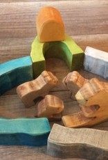 Chill Waldorf Inspired Wooden Bear Family & Cave Set