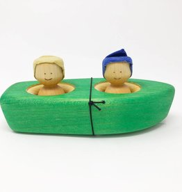 Chill Wooden Boat + Two People
