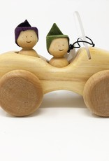 Chill Wooden Jeep + Two People