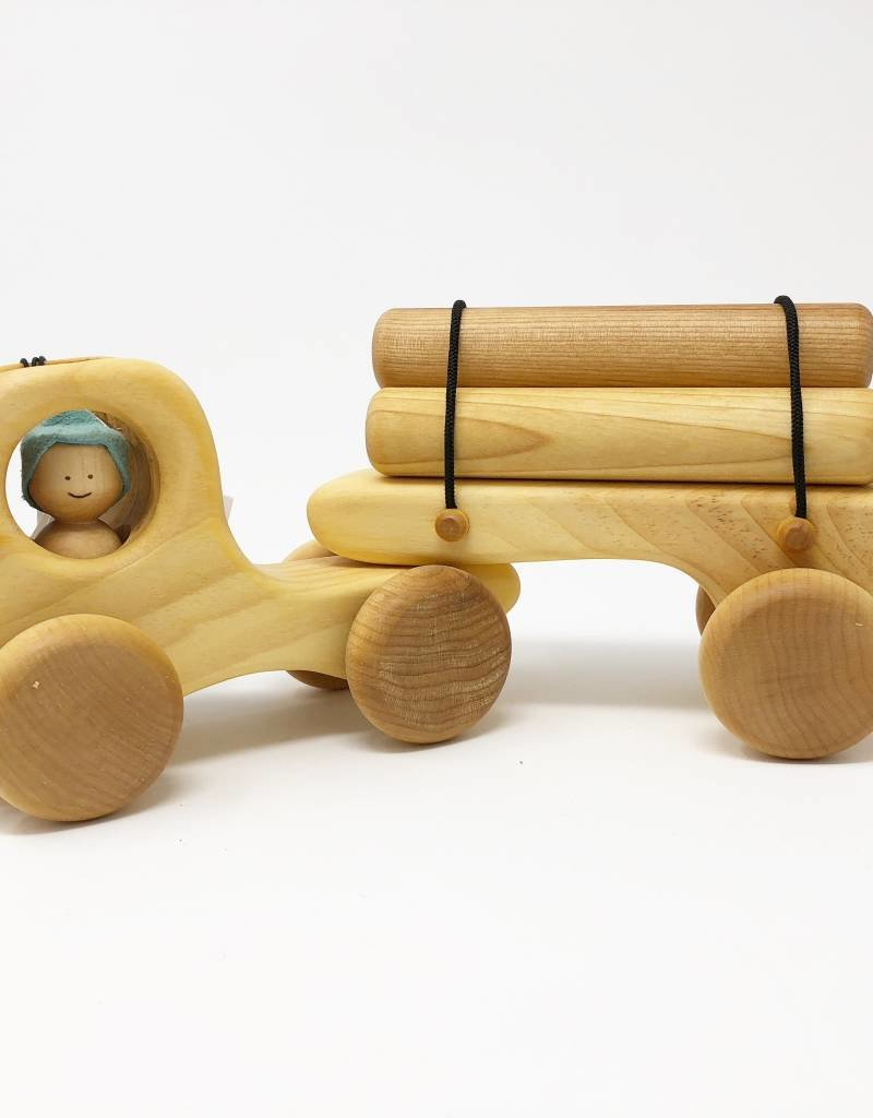 Chill Wooden Logging Transport + One Person