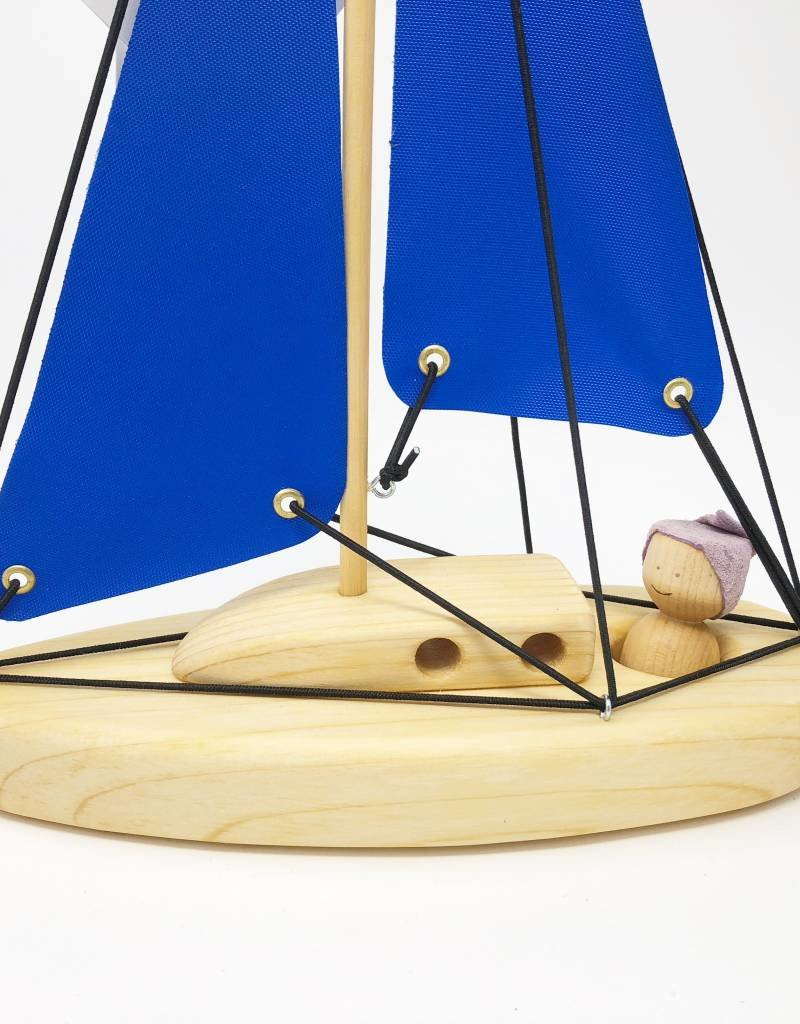 Chill Wooden Sail Boat Large