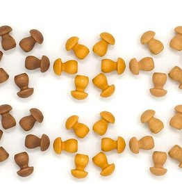 Grapat Mandala Mushrooms 36 pc, Loose Parts - Browns