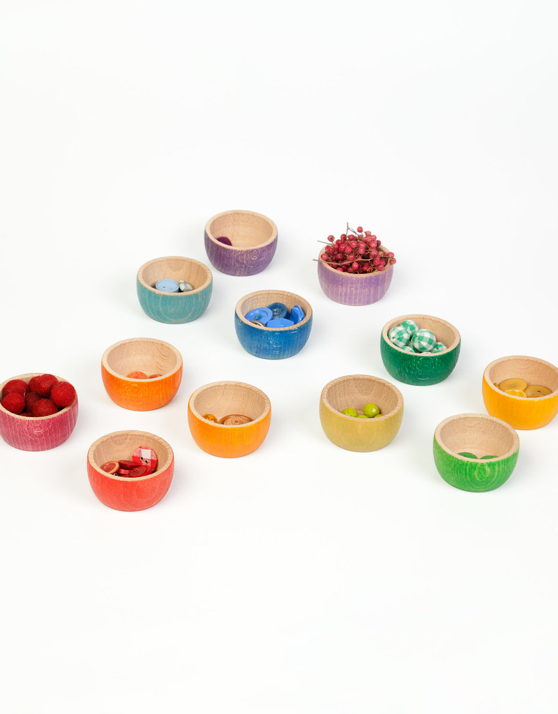 Grapat Wood Bowls 12 pc