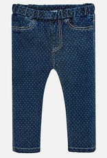 Mayoral Polka Dot Denim Look Pant