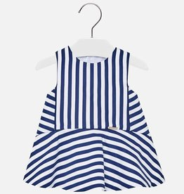 Mayoral Stripe Navy Dress
