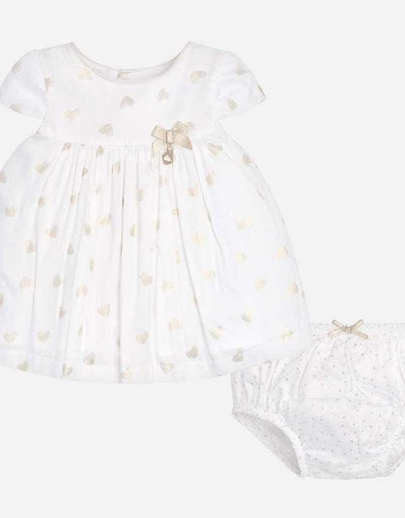 3ea371c77 Mayoral Baby Girl Gold Heart Dress - Chill Lifestyle for Kids - Chill  Lifestyle For Kids