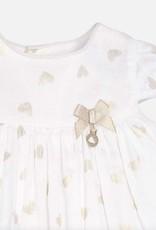 Mayoral Gold Heart Dress & Bloomer Set