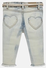 Mayoral Bleached Denim with Detail