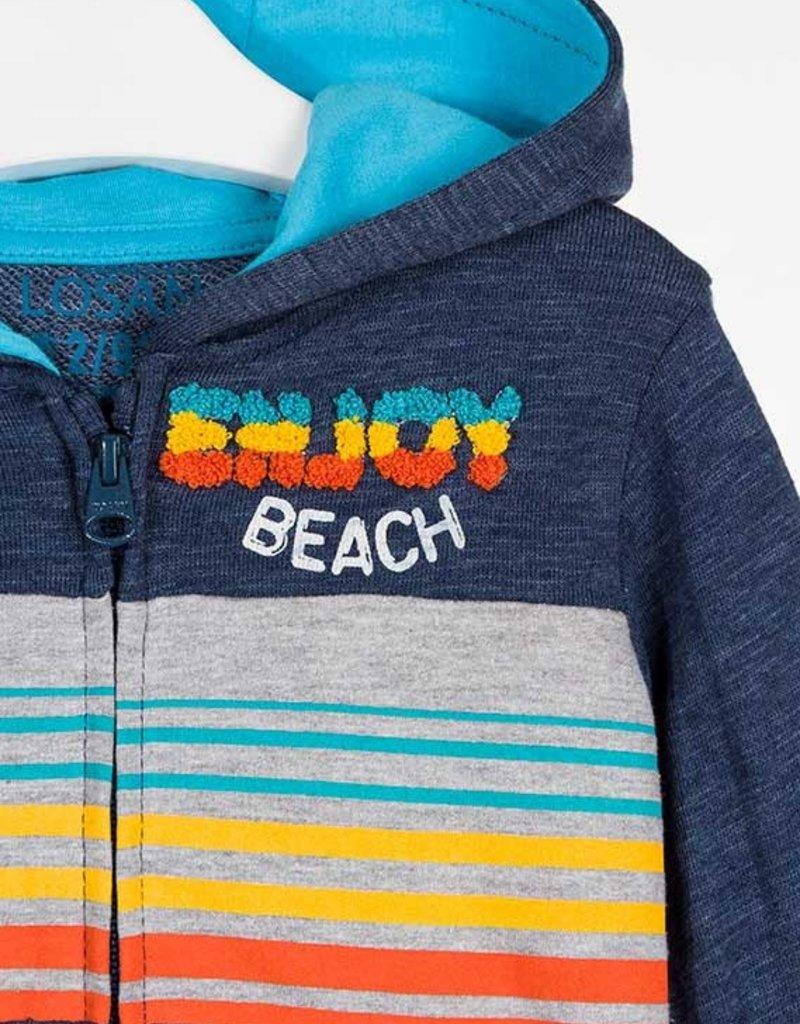 Losan Beach Hoodie Front Zip