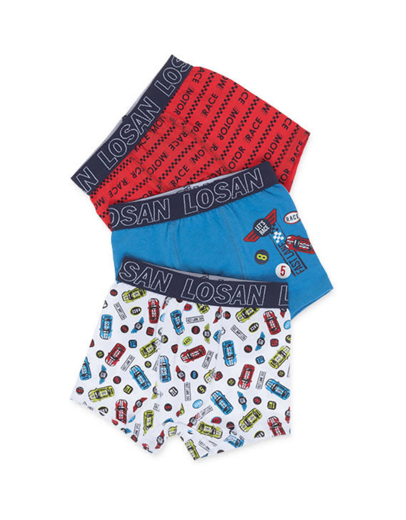 Losan Boxers 3 Pack Cars Blue
