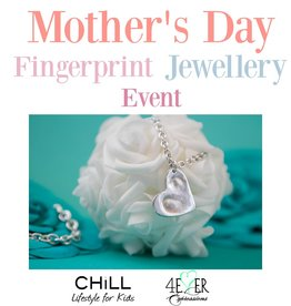 Mother's Day Fingerprint Jewellery Event ($20 Deposit) April 27th, 2019