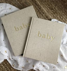 Write to Me Deluxe Luxury Linen Baby Journal Boxed