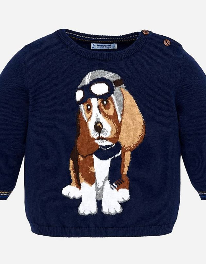 Mayoral Aviator Sweater Hound Dog