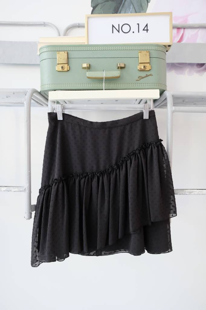 Black Swiss Dot Skirt