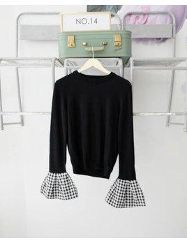 Gingham Cuff Sweater