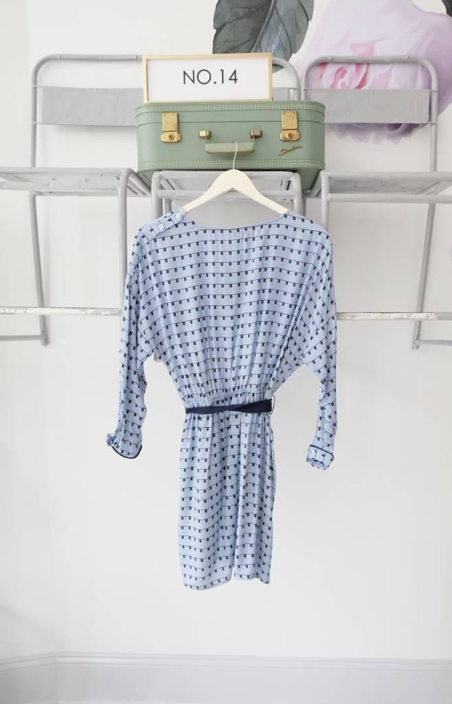 Printed Tie Waist Dress