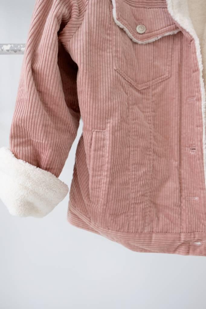 Blush Corduroy Sherpa Jacket