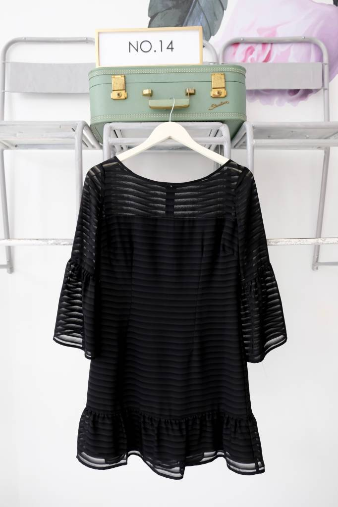 Chiffon Bell Sleeve Dress