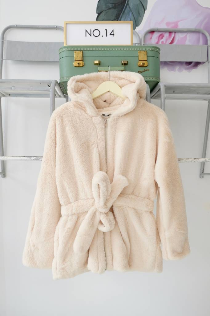 Peplum Faux Fur Jacket