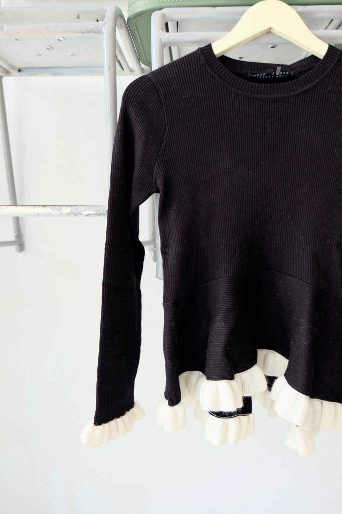 Ruffle Hem Peplum Sweater