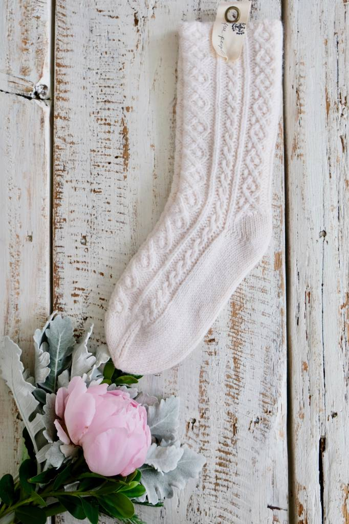 Cable Knit Cozy Sock