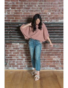 Sherpa  Dolman Sleeve Sweater