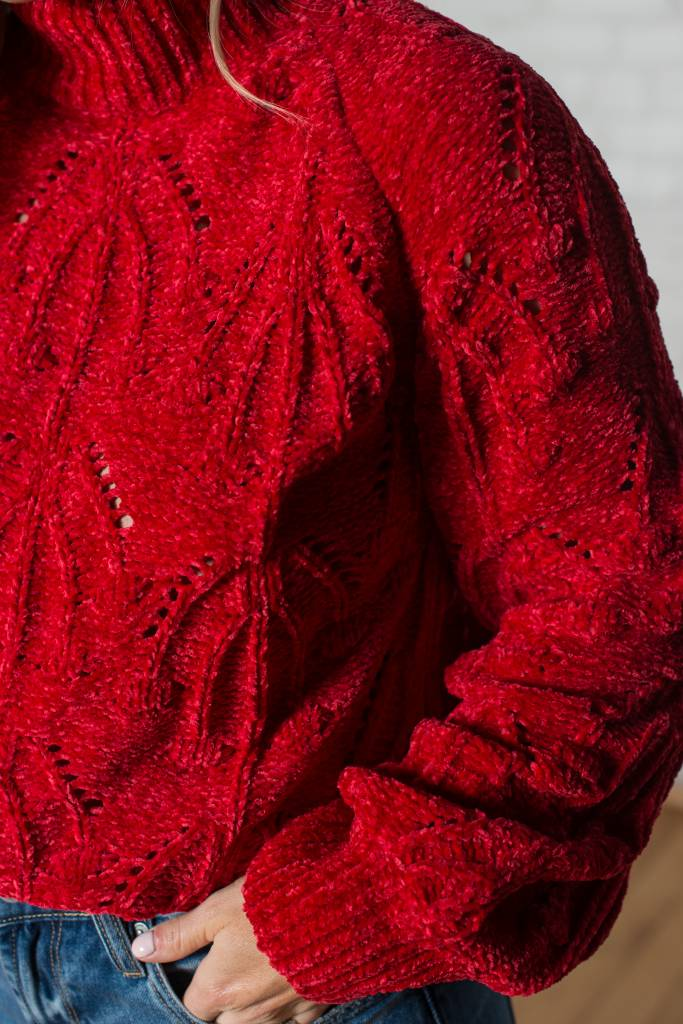 Red Mockneck Sweater