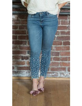 Pearl Embellished Skinnies