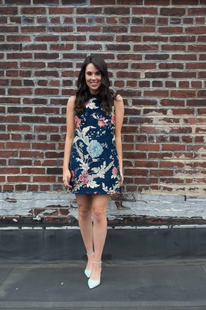 Brocade Dress with Collar