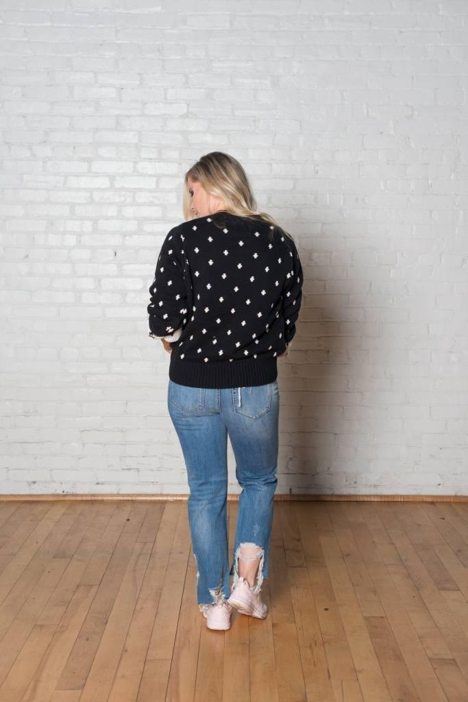 Cross Mockneck Sweater