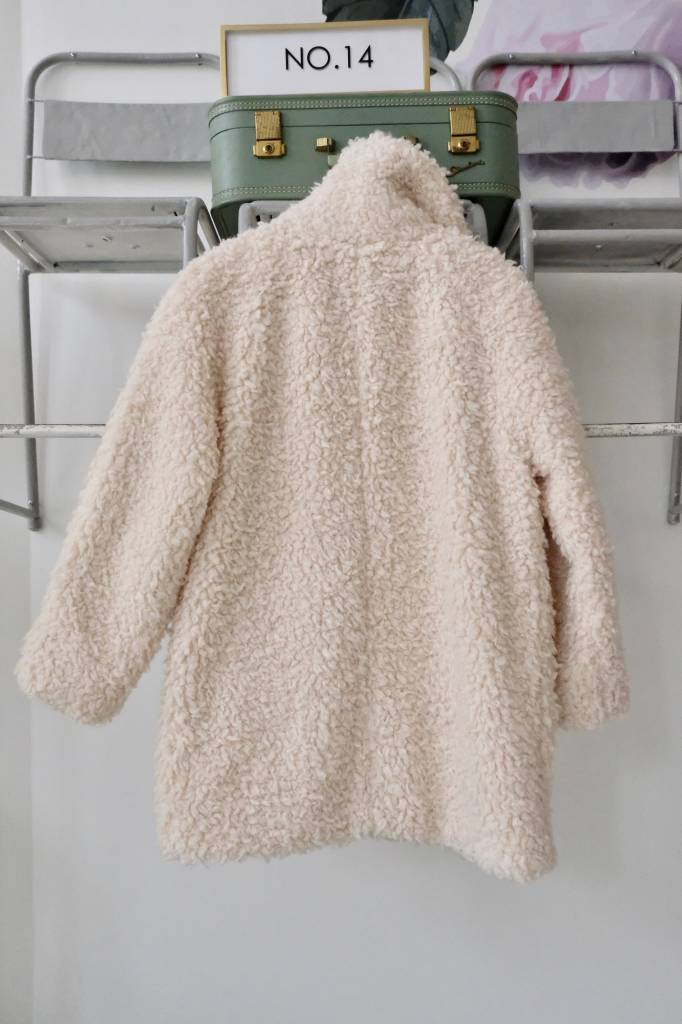 Cream Sherpa Coat