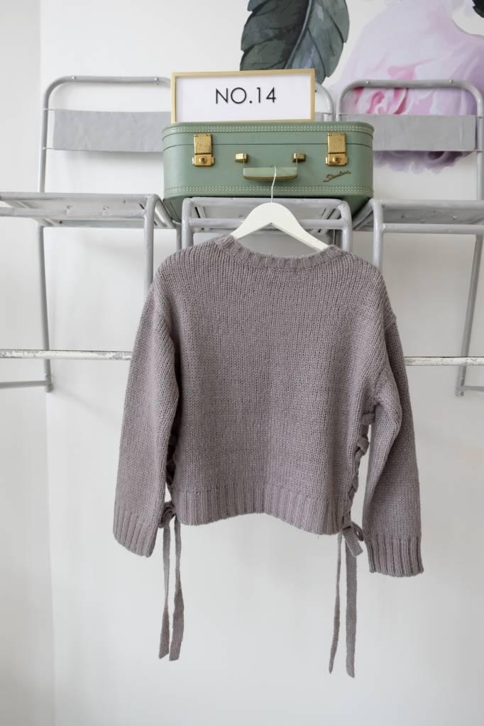 Side Tie Sweater