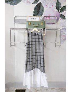 Ruffle Sweater Midi Dress