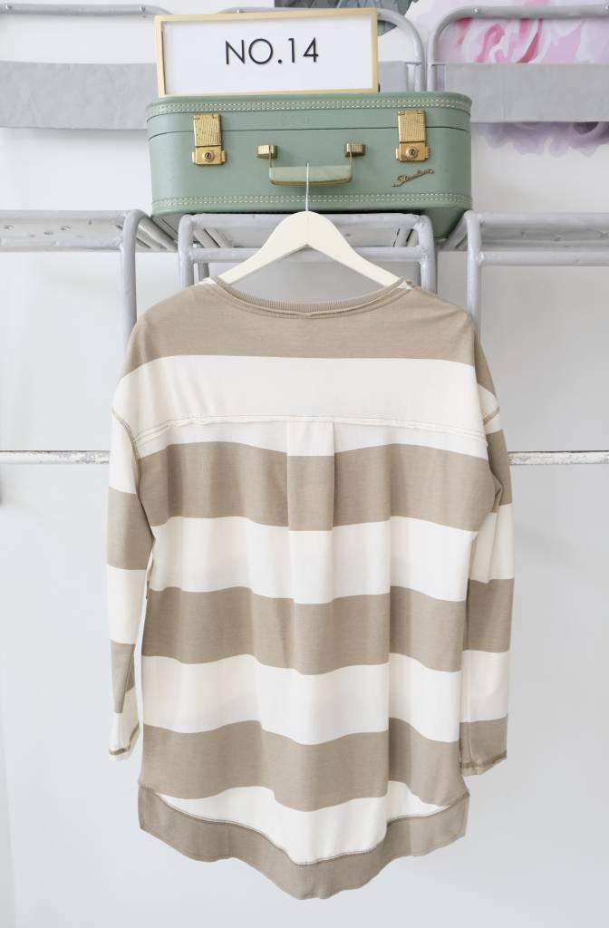 Striped Side Split Sweatshirt