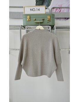 Dolman Sleeve Mockneck Sweater